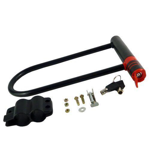 Large D Shackle Bike Lock With 2 Keys                  Features  Grande grillete D–Candado para bicicletas con 2llaves–Anti impacto diseño Resistente a la intemperie–Solid Heavy Duty D–Candado para bicicletas Se...