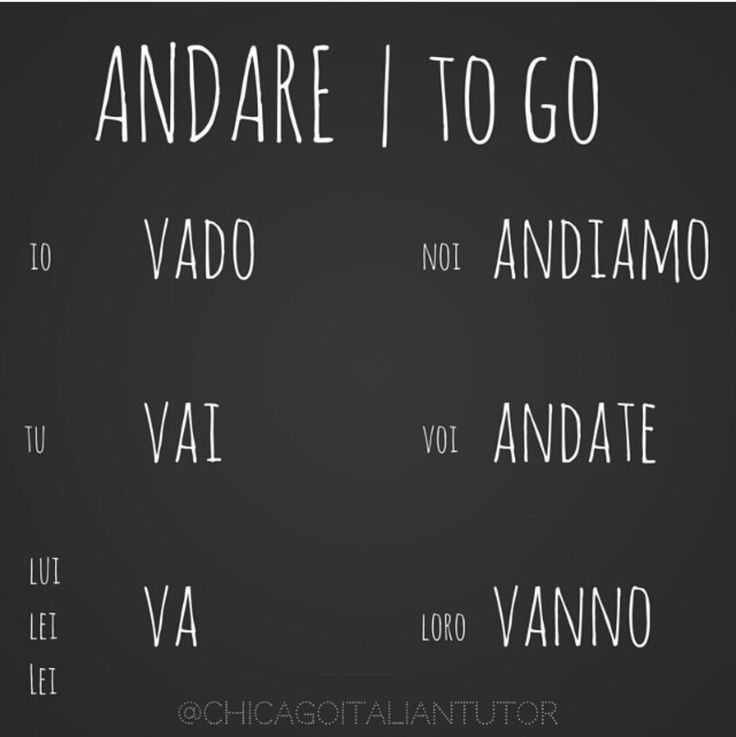 andare | to go