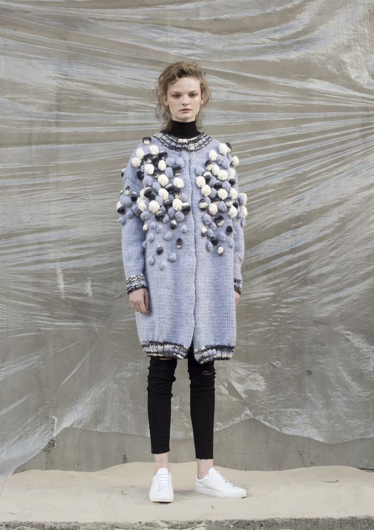 Anna Dudzińska, NATURAL THING, aw2016, sweater SMALA. To download high or low resolution product images view Mondrianista.com (editorial use only).