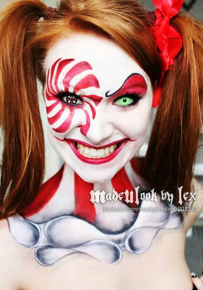 Creepy Clown Halloween Makeup Face Painting | Holidays | Pinterest | Twists Halloween Makeup ...