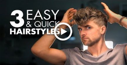 3 Quick and Easy Hairstyles For Men | Mens Hair Tutorial