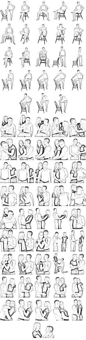Poses series couple     by lana