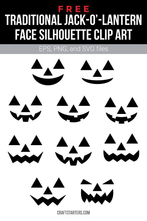 Free Traditional Jack O Lantern Face Silhouette Clip Art Jack O Lantern Faces Halloween Jack O Lanterns Jack O Lantern