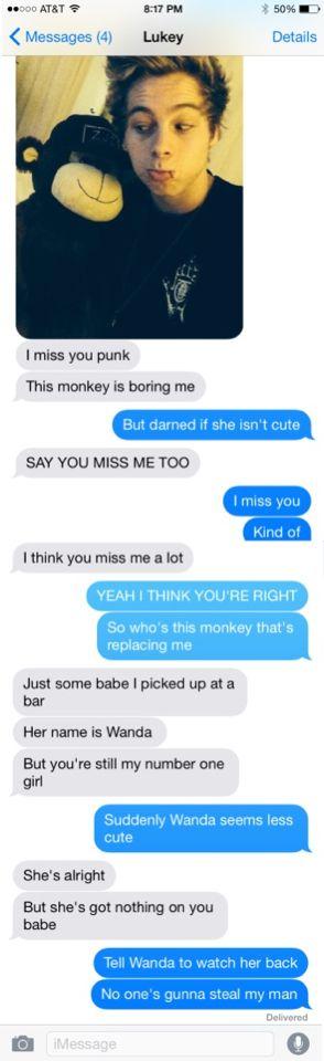 5sos Text Imagine: Luke Hemmings  (5Secondsoftexting.Tumblr.Com)