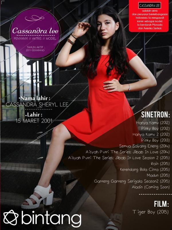 Cassandra Lee mengawali karir pada tahun 2011. Satu demi satu kesuksesan pun berhasil diraihnya hingga seperti sekarang. Bagaimana lengkapnya perjalanan karir Cassandra Lee? Simak infografis berikut ini! #CassandraLee #Aktris #CelebBio #Bintang #Indonesia