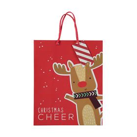 Large Reindeer Christmas Gift Bag