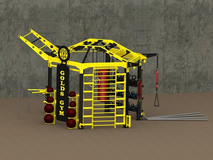 Golds Gym functional fitness training station. Custom design by MoveStrong