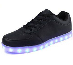 (Présents:petite serviette)JUNGLEST Chaussure LED Lumineux 7 Changements de Couleur Réglable Rechargeable avec USB Prise Unisexe Décoration…