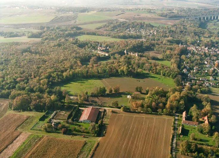 Vue aérienne du sud du village