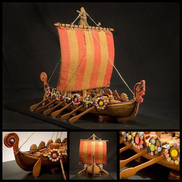 gingerbread Viking ship