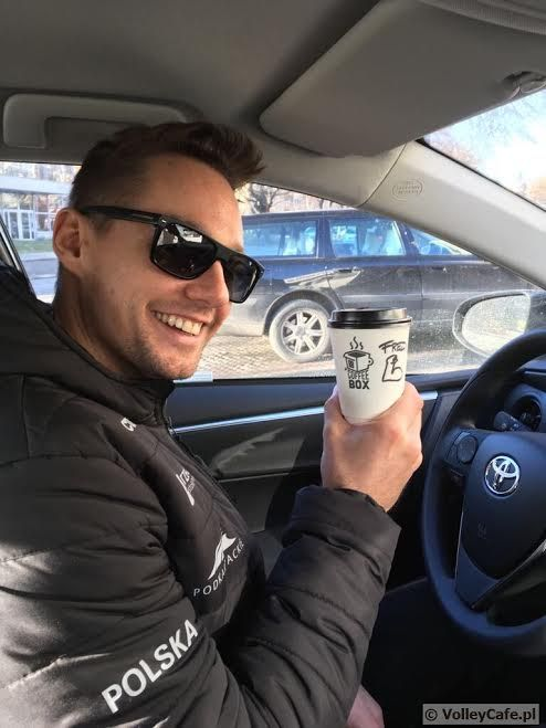 Fred Winters with a #coffee #coffeetime #volleyball #siatkówka #cafe