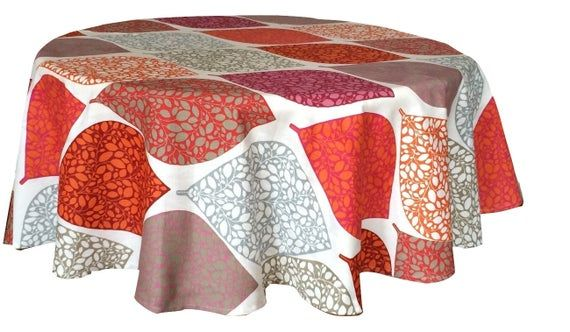 Round Tablecloth Table Linens 100 Cotton Fabric Scandinavian Fabric Tablecloth Geometric 145cm 57 With Images Scandinavian Fabric Tablecloth Fabric
