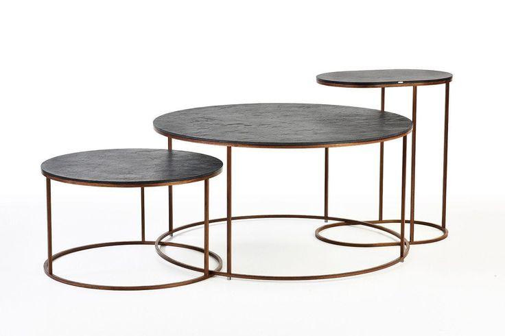 Mesa de centro / moderna / de chapa de madera / de metal - AIRWOOD CIRCLE by Tomáš Vacek - Gravelli