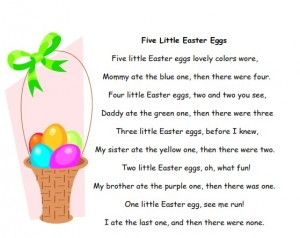 Storytime Standouts offers free Easter and springtime printables including poems and chants. Great for preschool and kindergarten.