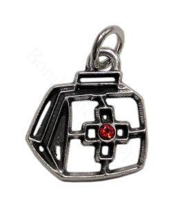 Ciondolo soggetto borsa da medico in metallo argento | Bomboniere Laurea