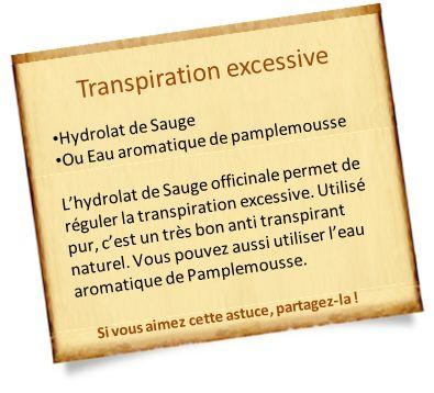 Vous transpirez avec des mauvaises odeurs ? Découvrez des anti transpirant naturel contre la transpiration excessive.
