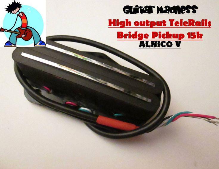 G.M. Tele Hot Rails Telecaster Bridge Pickup Alnico 5 for Fender Telecaster®