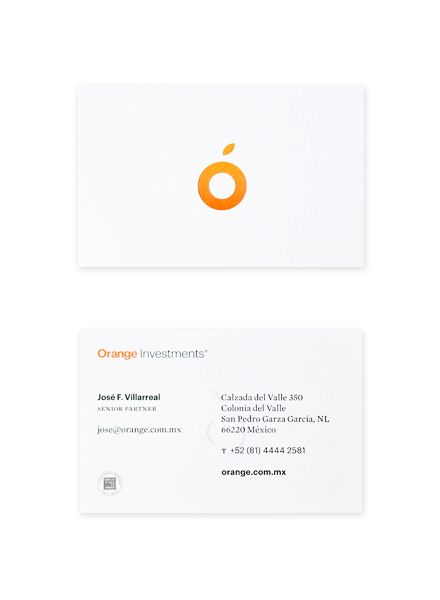Orange Investments. by Face. , via Behance