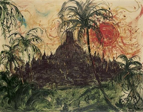 """Affandi, """"Borobudur"""""""