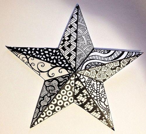 Zentangle Inspired Art | Christmas Star - December 2012 My f… | Flickr