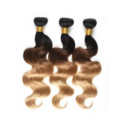 3Pcs Ombre Body Wave Human Hair Wefts