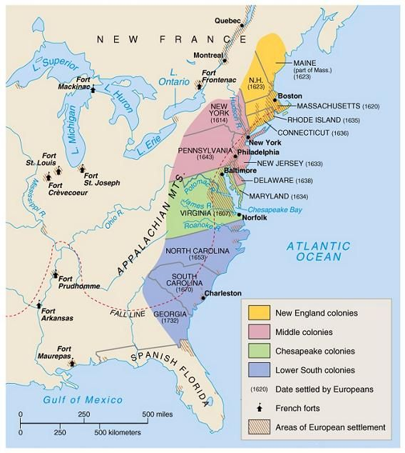 Map Of Early Colonies In Us Yahoo Image Search Results