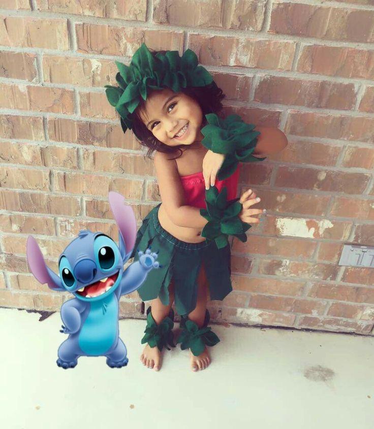 Lilo and stitch lilo costume toddler costume Halloween trick or treat stitch disney happy Halloween lilo