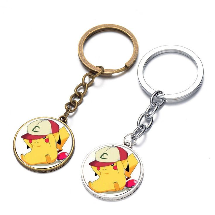 Animation Around Toys Pokemon Pikachu Hat Time Gem Alloy Keychain-copper - http://hobbies-toys.goshoppins.com/tv-movie-character-toys/animation-around-toys-pokemon-pikachu-hat-time-gem-alloy-keychain-copper/