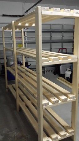 Garage shelves do it yourself plans woodworking projects for Do it yourself garage plans