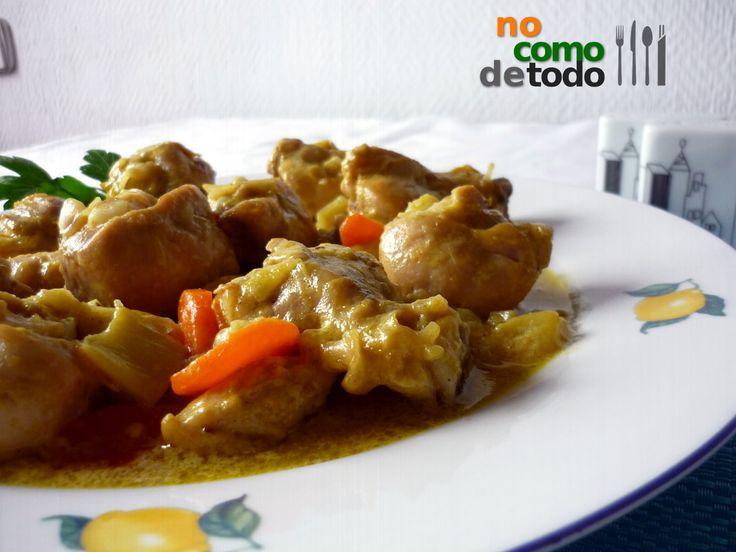 Pollo al curry con leche de coco - No como de todo