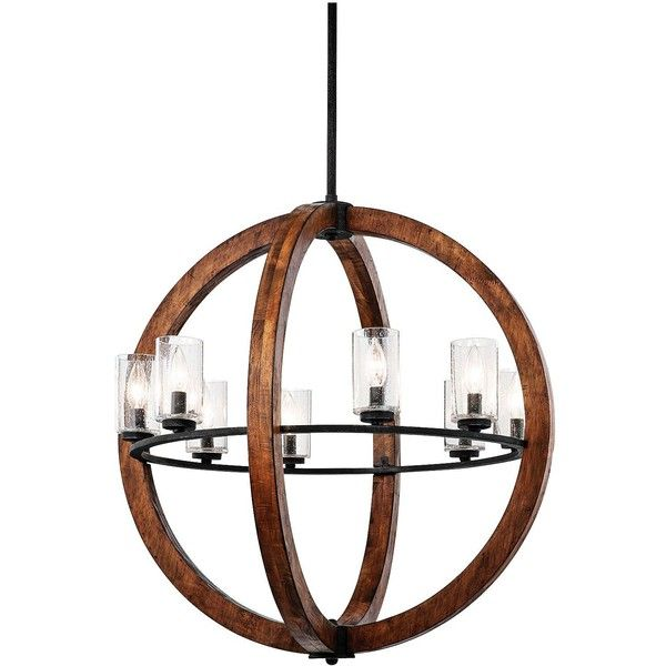 "Grand Bank 28"" Wide Double Wood Chandelier by Kichler ($1,419) ❤ liked on Polyvore featuring home, lighting, ceiling lights, brown, chandeliers, kichler lamps, sphere chandelier, tiered chandelier, kichler chandeliers and wood chandelier lighting"