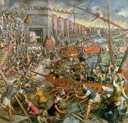 The Capture of Constantinople in 1204  by Jacopo Tintoretto (Robusti)