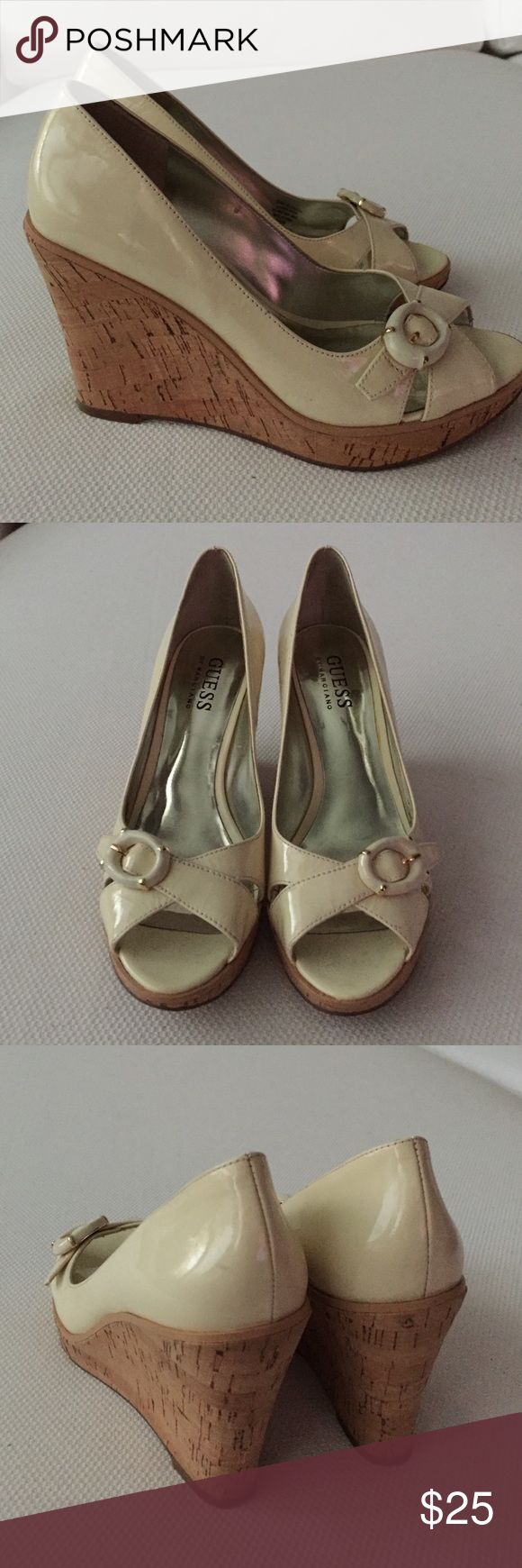 Guess Marciano Wedge Cream and cork wedges Guess by Marciano Shoes Wedges