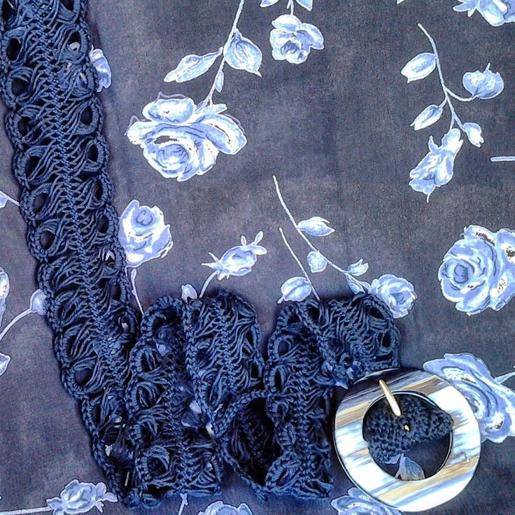 cintura in cotone interamente realizzata uncinetto