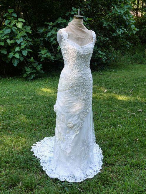 173 best crochet irish crochet images on pinterest for Lace winter wedding dresses