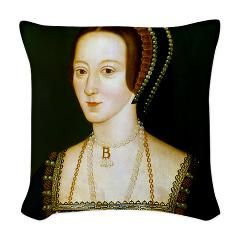 Anne Boelyn Woven Throw Pillow> Anne Boleyn> The Old Masters in HDR