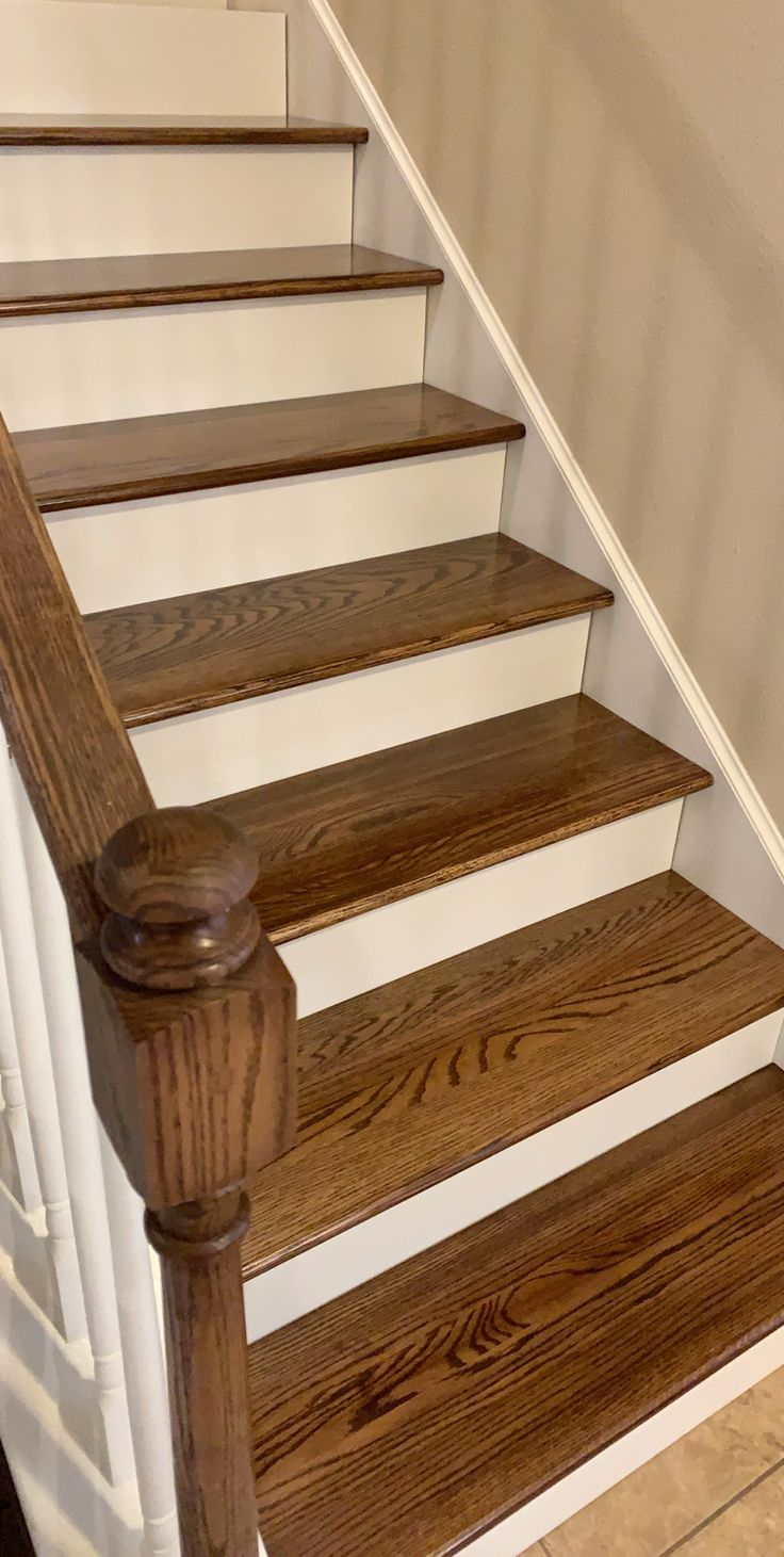 Best Added Red Oak Wood Stair Treads And Red Oak Wood Stair 400 x 300