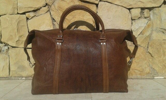 Oryx leather travel bag handmade by Ray's Leather - raysleatherwork@gmail.com