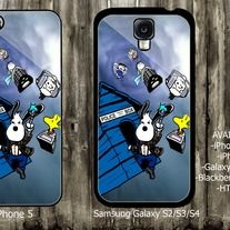 Snoopy Doctor who iPhone 4 / 4S case iPhone 5 case Samsung Galaxy S2 case Samsung Galaxy S3 / S4 case