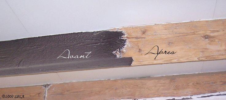 D caper des poutres peintes lin patine l 39 autre poutres pinterest articles - Decaper bois sans poncer ...