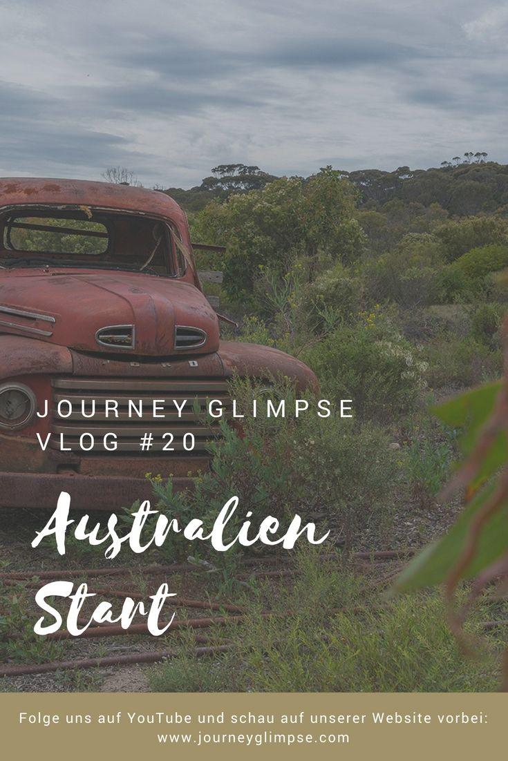 Vlog 20 bringt uns nach Australien. Wir starten mit einer Flugverspätung und einer Camper-Panne.