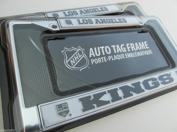 1 los angeles kings chrome auto license plate frame black letters la kings license plates autos and los angeles kings