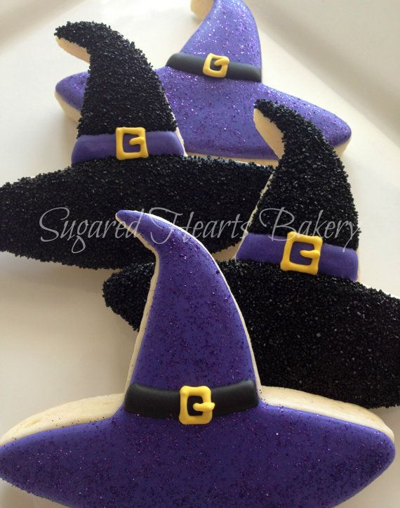 Sparkly Witch Halloween Cookies  *