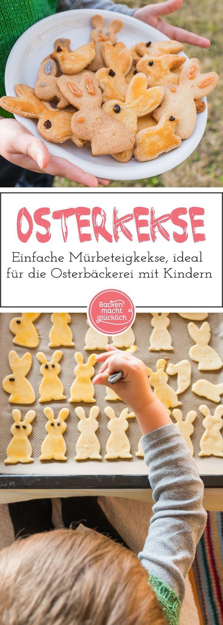 Biscuits au lapin de Pâques à base de pâte sablée   – Ostern Backrezepte
