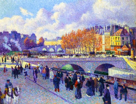 Maximilien LUCE The Seine at Port Saint Michel #Paris