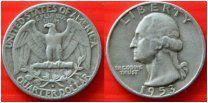 США квотер 25 центов 1953 монетный двор D Рузвельт СЕРЕБРО