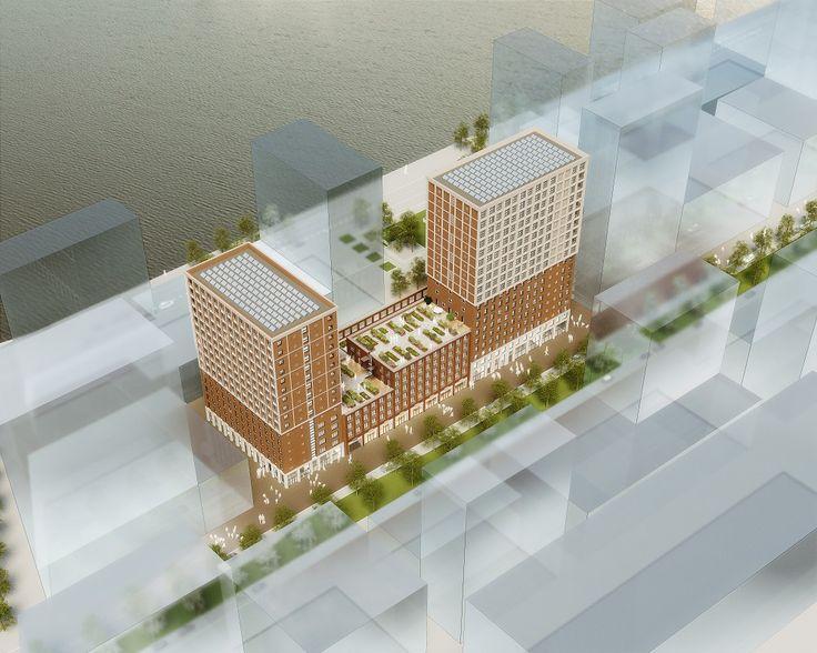 Twee nieuwe woontorens voor Katendrecht - architectenweb.nl