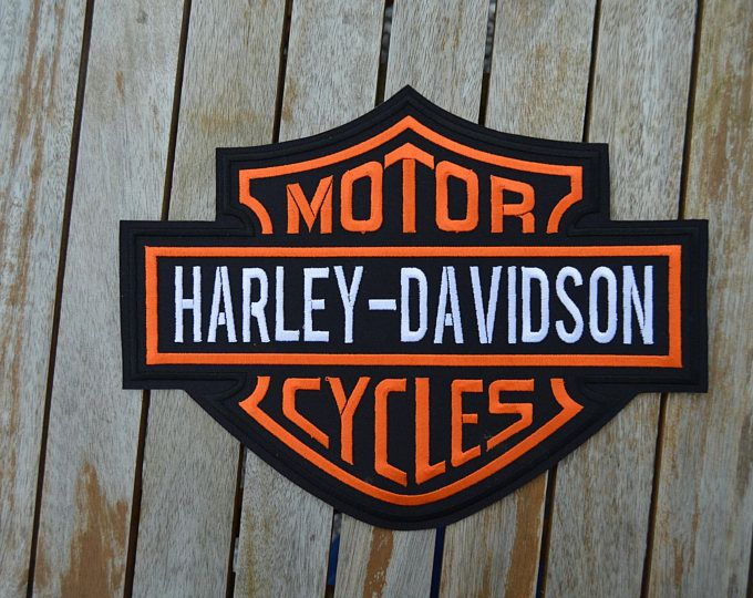 grand écusson harley davidson 25/20cm