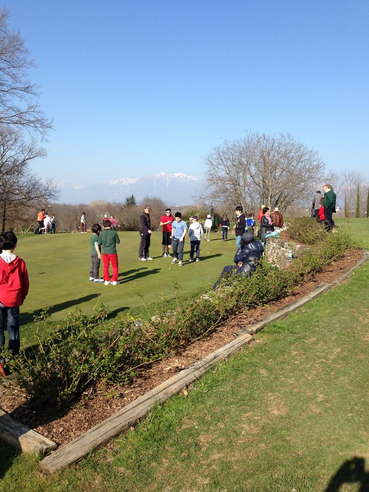 Kids in the putting green. Fagagna, Udine - Italy
