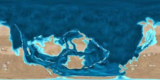 Reconstruction of the Earth in late Cambrian      http://space-telescopes-news.blogspot.com/2013/10/late-cambrian.html